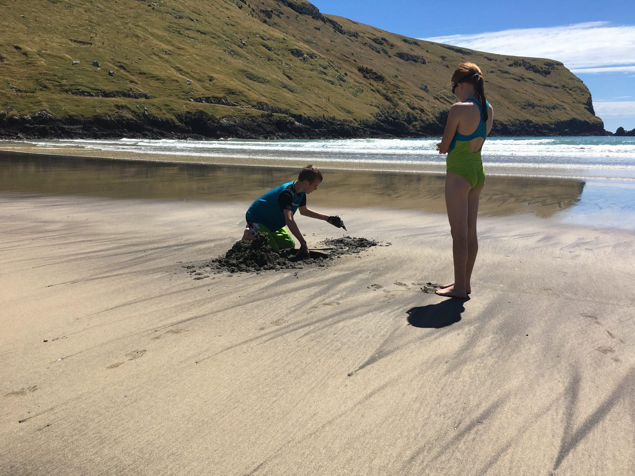 Beach, Lavericks Bay, Banks Peninsula, New Zealand.
